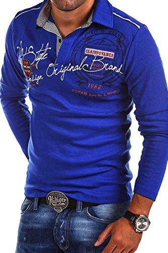 MT Styles Langarm Poloshirt AMBITION T-Shirt R-0682 Blau