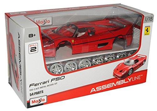 Ferrari F50 Coupe Rot 1996-1997 Bausatz Kit 1/18 Maisto Modell Auto