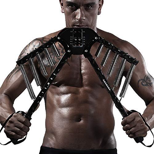DMMSS Verstellbare Feder Brust Arm Expander Einstellbare Stärke Trainer-Zug-Prüfverfahren Mit Justierbarem Widerstand Von 66-133 Lbs (30-60 Kgs) -