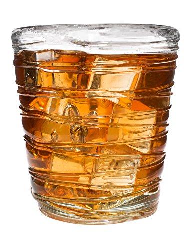 Saturn Swirl Trinkglas Gläser, 12oz-Set von 4 - 12 Oz Double Rocks Glas
