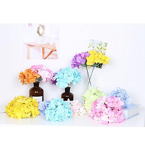 künstlichen Blumen 10 Hortensie Seide tafelaufsätze und Arrangement Real Touch Blumen für Home...