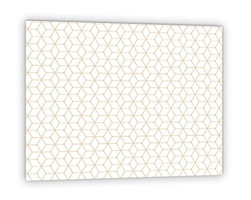 'Kredenz von synthetischen Küche aus Glas bereit Stellen mit Kleber--dicke 4mm Design geometrische Retro
