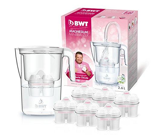 Bwt speciale–Caraffa da acqua filtrante, con magnesio, modello vita manuale + set...
