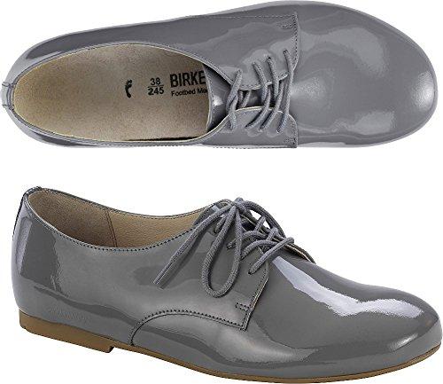 Birkenstock Damen Saunders Derby Grau (Grey)