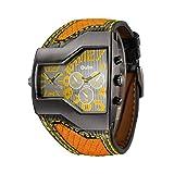 Relojes De Pulsera Reloj para Hombre Oulm Personalidad Reloj De Moda Deportes Recreativos En Dos Lugares Amarillo
