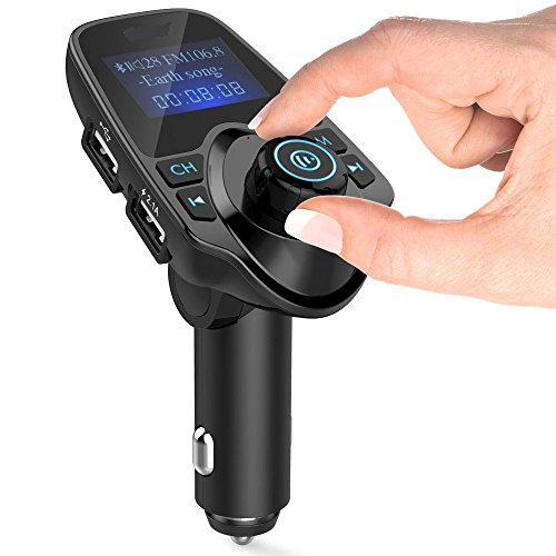 FM Transmitter EinCar drahtlos Bluetooth Car Kit FM MP3-Empfänger 1,44 Zoll Display-2.1A Auto-Ladegerät MP3-Player lesen Micro SD-Karte USB-Flash-Laufwerk