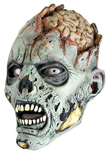 Epic Armoury 51422150 Open Brain Zombie-Grey-57-59 cm Maske, Unisex Erwachsene, - Larp Bogenschießen Kostüm