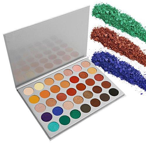 Palette Matte Glitter Pigment Texture Eye Shadow Beauty Maquillage,PowerFul-LOT 35 Couleurs Renaissance Ombre à PaupièRes Maquillage CosméTique Shimmer Matte Fard à PaupièRes Palette