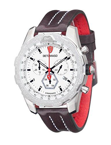 DeTomaso Airebreaker – Reloj de cuarzo para hombres, con correa de cuero