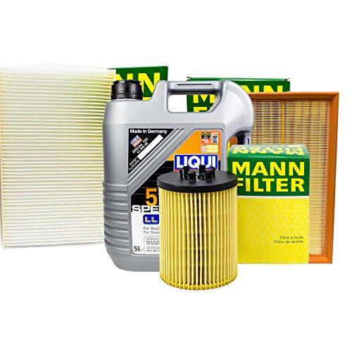 Preisvergleich Produktbild MANN FILTER SET INSPEKTIONSPAKET + 5L LIQUI MOLY 5W-30