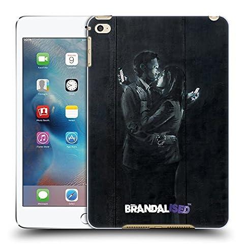 Officiel Brandalised Amants De Téléphone Portable Banksy Étiquettes De La Rue D'art Étui Coque D'Arrière Rigide Pour Apple iPad mini 4