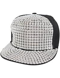 Krystle Hip-Hop Style Canvas Cap Hat - Silver + Black