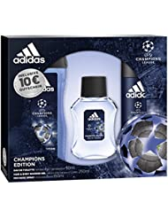 adidas UEFA CL Champions Edition Eau de Toilette + Deodorant Body Spray + Shower Gel + Online Shop Gutschein, 300 ml
