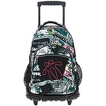 Amazon.es: mochilas escolares con ruedas - Multicolor