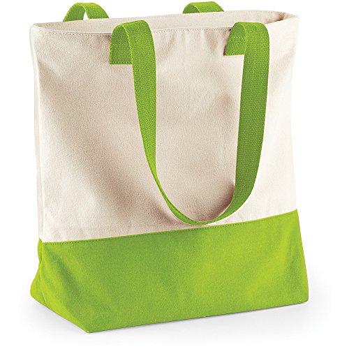BagBase , Borsa da spiaggia  Uomo Natural/ Apple Green
