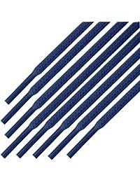 Cordones redondos para zapatos, de 55 Sport, de algodón encerado, color Morado, talla 125 cm