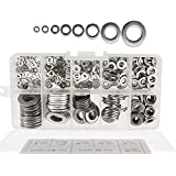 DIY Crafts 400pcs 304 Stainless Steel Flat Washers M2 M2.5 M3 M4 M5 M6 M8 M10 Assortment Set