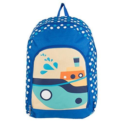 Sumaclife Unisex Kid's Play Backpack Travel Camping Hiking Bag Fits NAVISKAUTO Portable DVD Players (Boats)