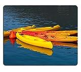 Luxlady Gaming Mousepad foto ID: 23258812 canoe, colore: giallo, Rosso e ancorato con boa di ancora acqua
