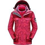 Zilee Frauen Warme Skijacke - Im Freien Atmungsaktiv Windjacke Winddicht Wasserdicht Schnee Mantel 3 in 1 Anzug Vlies Inner für Skifahren Laufen Bergsteigen Reisen