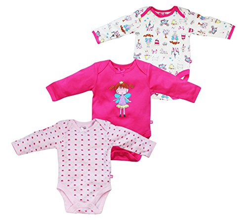 FS Mini Klub Baby-Girls' Bodysuits - Set of 3 (892219E MULTI_NB, Multi-Colour... (892219E MULTI_NB)