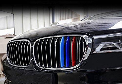 Preisvergleich Produktbild Carbon ABS Front Grill Dekoration Streifen Zubehör Rahmen Cover Trim Aufkleber für 7 Serie G11 G12 2016–2018,  eine Seite 9 Strand