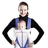 Youlanda 3 Positionen Babytrage als Bauchtrage, Baby Carrier, Rückentrage und Hüfttrage mit Kopfunterstützung für Neugeborene, Säugling und Kleinkinder
