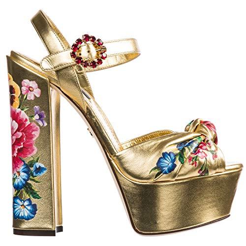 Dolce&Gabbana Damen Keira Sandalen ORO 36.5 EU