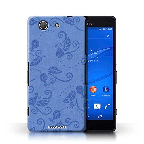 Kobalt® Imprimé Etui / Coque pour Sony Xperia Z3 Compact / Gris conception / Série Motif Coccinelle Bleu