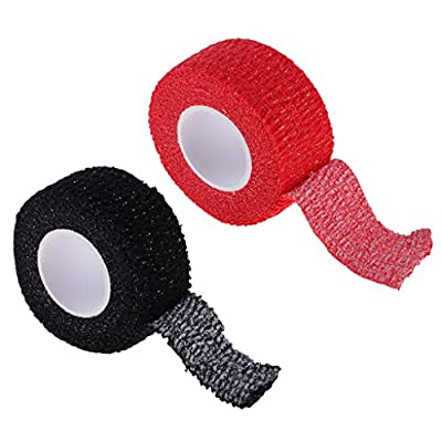 Phenovo 2 Rolls 5 Meters Golf Left Right Hand Finger Protection Grip Wrap - Self Adhesive, Anti-skid, Durable