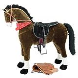 """Sweety Toys 10769 Plüsch XXL Stehpferd Reitpferd """"Chocolate"""" Größe ca.125 cm mit Sattel"""