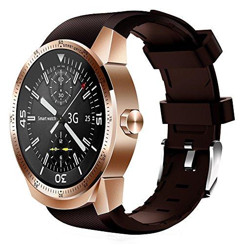 Watch Phone k98h 3G PLUG-IN-Karte Smart Watch für GPS Navigation sedentariness Herzfrequenz und Schlafen Überwachung mit der Antiverlust Finder und Fernbedienung Shooting RAM 512MB ROM 4GB rose gold (Verizon Wasserdicht Telefon)