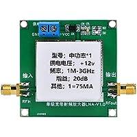 DC12V 1-3000MHz Módulo de amplificador de ganancia de 20dB Banda ancha RF Banda ancha RF de bajo ruido Banda ancha transmisora con carcasa de protección para audio de TV FM de onda corta
