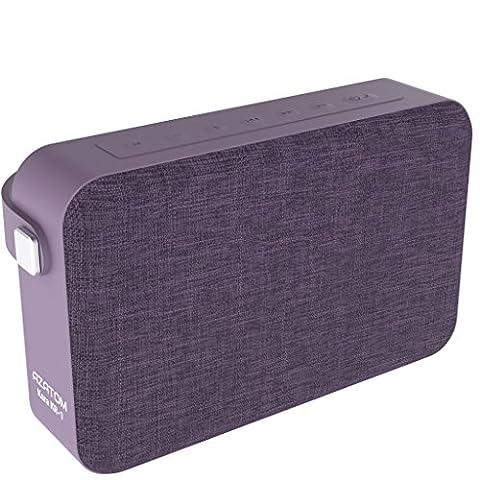 AZATOM Kara K1 Bluetooth speaker - Luxury cloth - Rechargeable - Handsfree calls - Bass woofer - 24 Watts - 20 Hours Playtime - British Designed - PURPLE