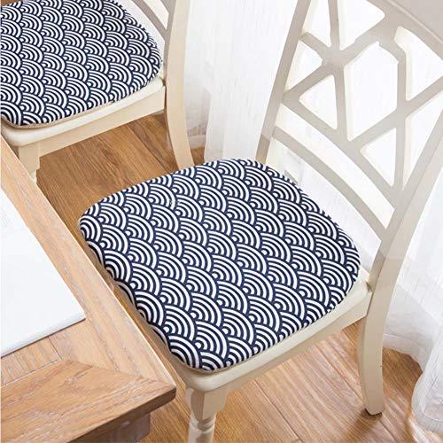 Japaner Kissen Stuhlpolster,quadratische Baumwolle Leinen Stuhlkissen,weich Rutschfeste Sitzkissen Matt Mat Für Essen Küche Stühle-f 4er Set