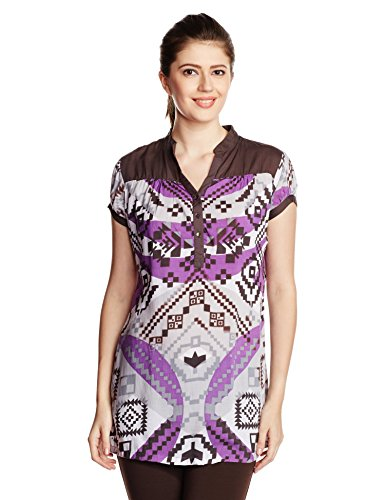 Style Quotient By NOI Women's Body Blouse Shirt (SS16SQPIXIE_Purple_Medium)  available at amazon for Rs.499