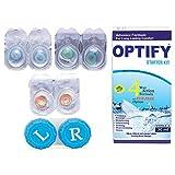 #9: Optify Blue-Aqua-Honey Monthly Color Contact Lens (Zero Power, Blue-Aqua-Honey)