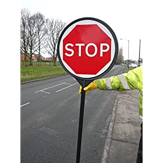 Stop / Go Lollipop Road Crossing Safety Sign