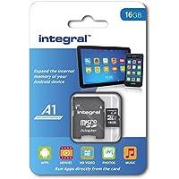 Integral INMSDH16G10-A1 A1 App Performance 16GB MicroSDHC/XC UHS-I U1 Memory Card
