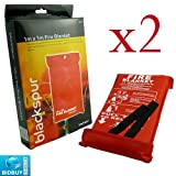 2 FIRE BLANKETS - 1M x 1M - IDEAL FOR KITCHENS, HOMES & CARAVANS by Bid Buy Direct