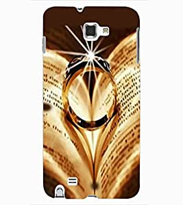 ColourCraft Beautiful Ring Design Back Case Cover for SAMSUNG GALAXY NOTE 1