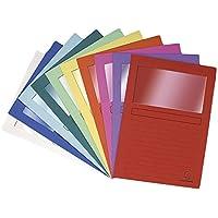 Exacompta 50200E - Lote de 10 Subcarpetas Forever® 120 con Ventana e Impresas, Colores Surtidos Vivos
