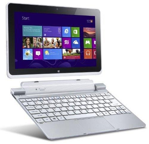 Acer Iconia W510-27602G06ass 25,7 cm (10,1 Zoll) Convertible Tablet-PC inkl. Keydock (Intel Atom Z2760, 1,8GHz, 2GB RAM, 64GB eMMC, Intel 3650, Win 8) silber