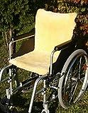 Rollstuhlauflage aus echtem Lammfell - Dichte und stabile Ware für hohe Atmungsaktivität und Druckentlastung 45x85 cm