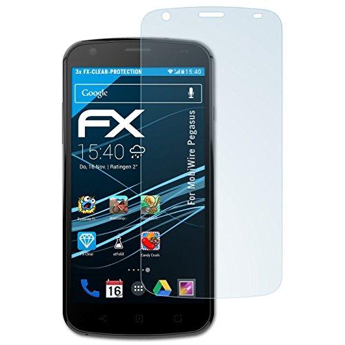 atFolix Schutzfolie kompatibel mit MobiWire Pegasus Folie, ultraklare FX Bildschirmschutzfolie (3X)