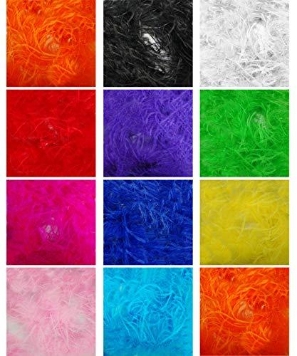 Gedruckt Kameez (Marabou & 11cms Straußenfederzweige Boa Pelzschal. Mehr luxuriöses Feel & Drape, Burlesque Dancing, Kostüm, Kostüm. 11 atemberaubende Farben, Natürlich, Neotrims)