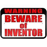 """graphique et plus """"Warning Beware of Inventor"""" 22.9x 15.2cm plaque en métal Tableau"""