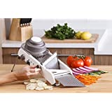 Ad Fresh High Quality Vegetable Grater Adjustable Stainless Steel Mandoline Slicer Cutter With Holder Cuts Fruits & Vegetables Cutter Use For Multi-Purpose