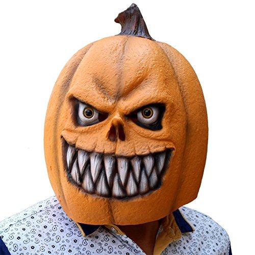 Creepyparty deluxe novit¨¤ festa di halloween costume lattice maschera di testa (zucca nuovo)
