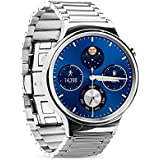 Huawei Watch Band, Secure Stainless Steel Huawei Watch Strap with Durable Folding Clasp Fine Polishing Replacement...